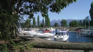 The boat harbor.