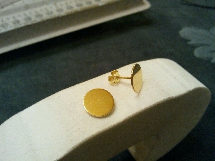 Silver gold plated ear pin