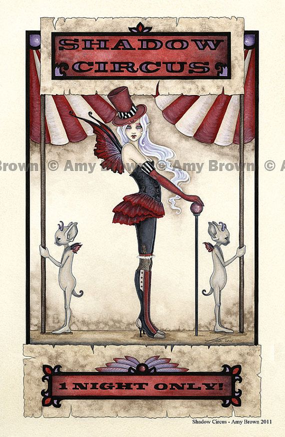 Shadow Circus FAIRY PRINT by 8.5x11 Amy Brown