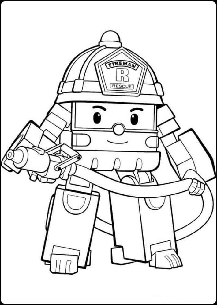 Mewarnai Gambar Robocar Poli Kartun Buku Mewarnai Gambar