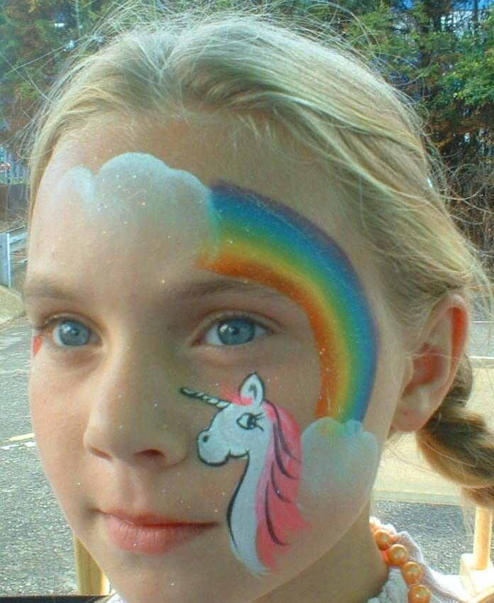 Rainbow unicorn | Face Painting | Pinterest
