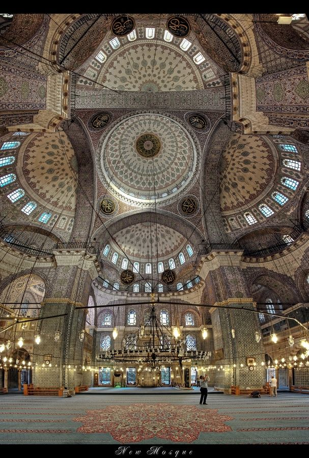 Incredible interior - New Mosque, Istanbul. Had an amazing time just sitting and taking it all in. Unforgettable memories!