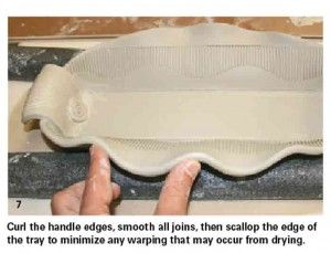 How to Make a Cool Textured Handbuilt Tray from One Slab of Clay