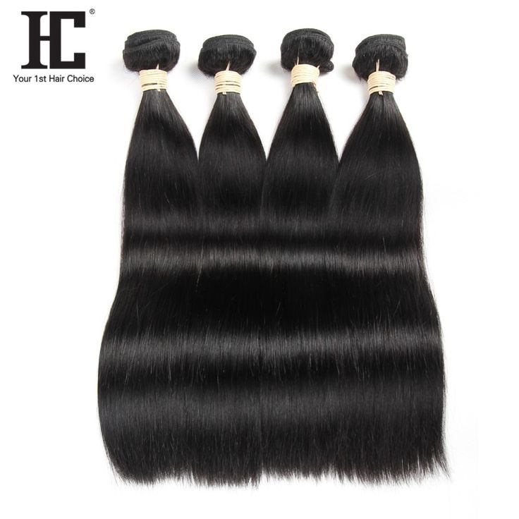 Peruvian Straight Hair Weave 4 Bundles Double Weft…