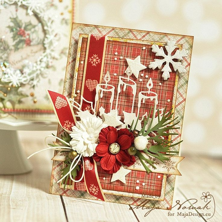 """Wonderful Christmas card by Maja, using papers from """"I Wish""""."""