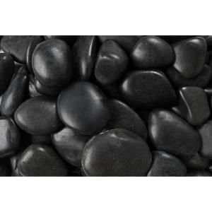 Rain Forest, 20 lb. Grade A Black Polished Pebbles 3 cm to 5 cm, RFBRP at The Home Depot - Mobile