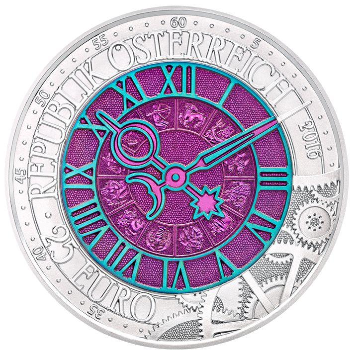In unserer schnelllebigen Epoche: eine Münze von zeitlosem Wert – die Silber-Niob-Münze zum Thema Zeit.Sammeln ist das Gegenteil von Zerstreuung; besondere Dinge sammeln heißt, Erfahrungen und neue Kräfte zu sammeln, innere Ruhe zu finden und der Hektik des Alltags zu entkommen. – Die neueste Silber-Niob-Münze, ein farbenfroher Ausflug in die Dimension Zeit.