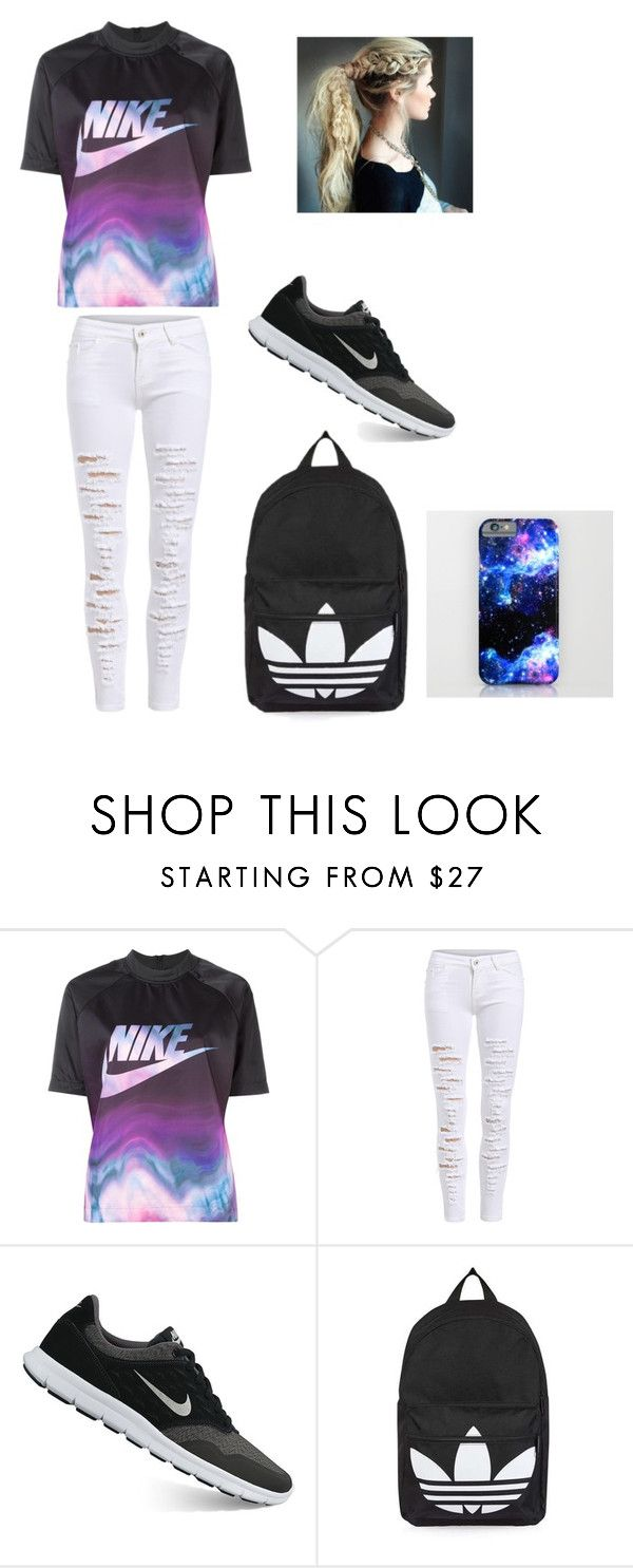 """Untitled #33"" by moriartylauren on Polyvore featuring beauty, NIKE and Topshop"