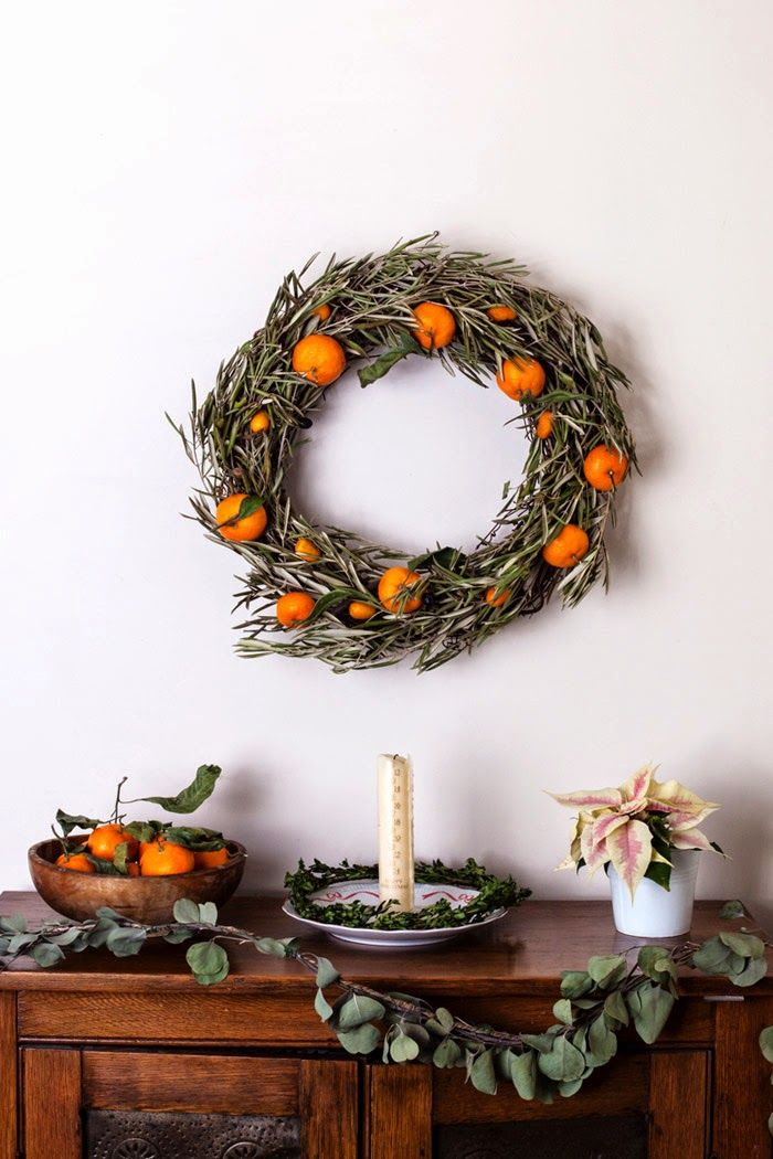 Holiday Citrus Wreath Couronne d'agrumes des Fêtes