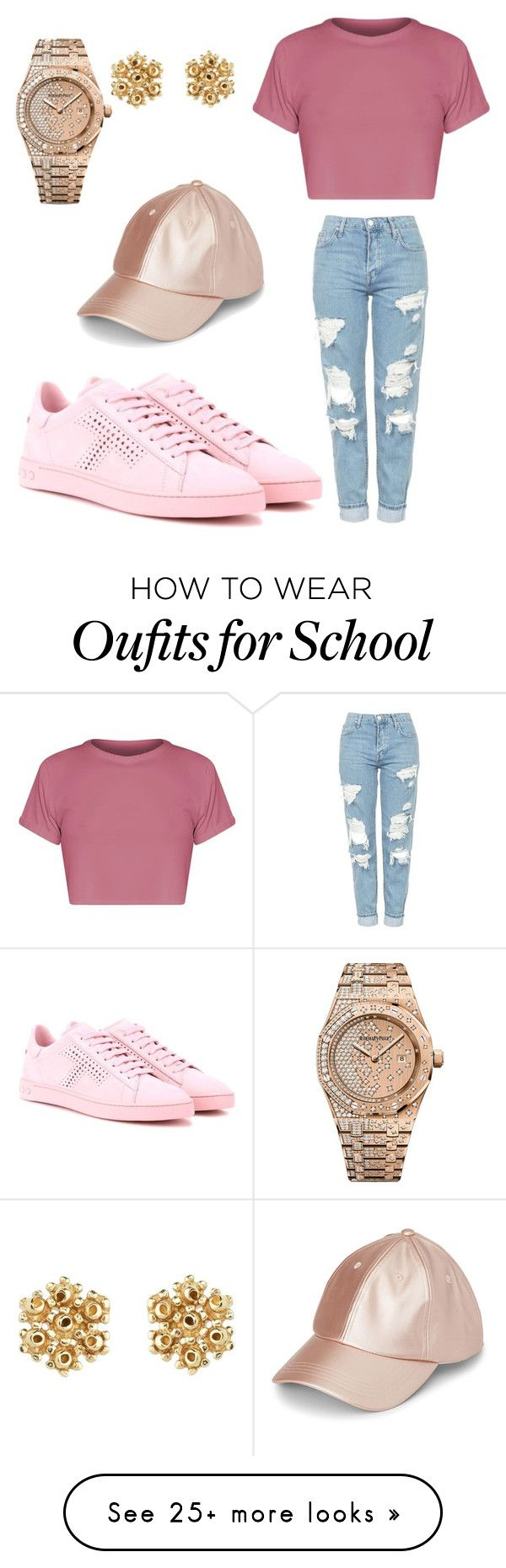 """School"" by beautyniya1 on Polyvore featuring Topshop, Tod's and Audemars Piguet"