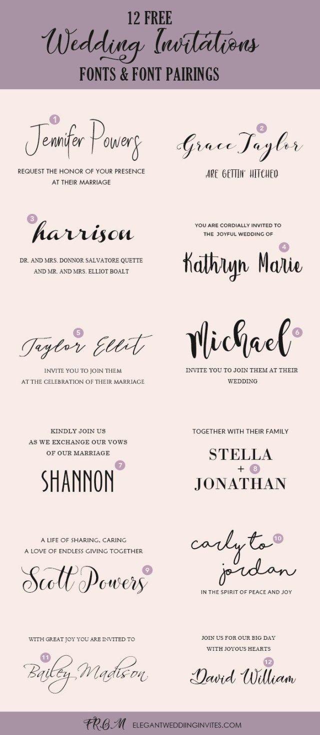 30 Best Image Of Wedding Invitation Font With Images Wedding