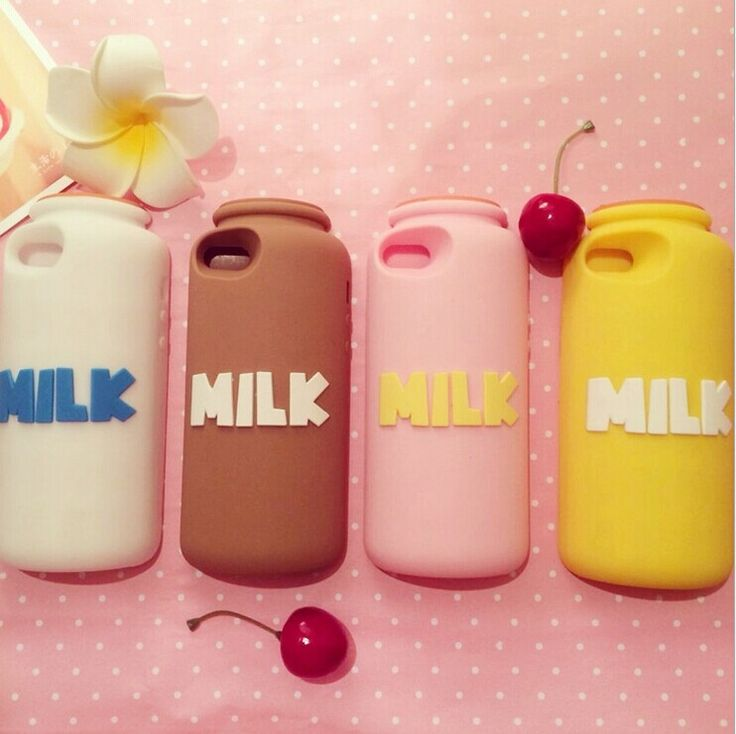 milk bottole chocolate pink rose yellow white cute kawaii awesome gorgeous iphone cover case