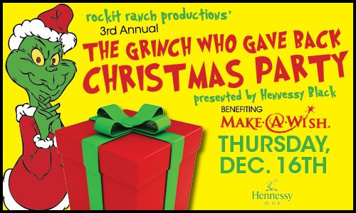 Love the theme for a Christmas fundraiser......The Grinch who gave back Christmas Party