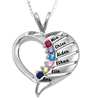 11 best grandma jewelry images on pinterest birthstones the silver hearts journey pendant from lifetime mothers will melt any grandmas heart a true aloadofball Gallery