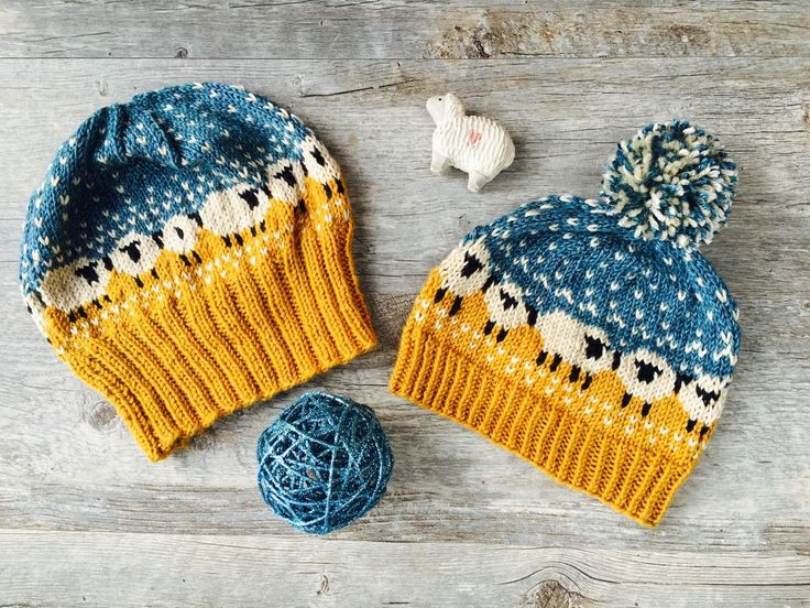 My two versions of the Baa-ble hat pattern
