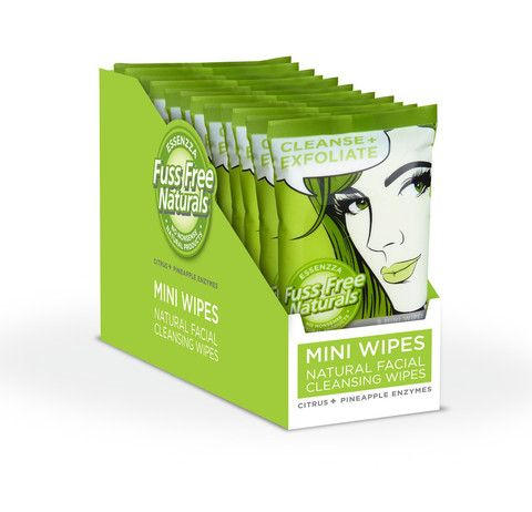 Facial Cleansing Mini Face Wipes Cleanse+Exfoliate