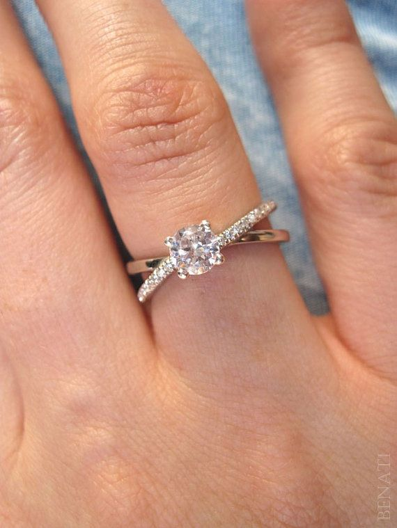 Infinity Engagement Ring Diamond Infinity Engagement by Benati  Love this!
