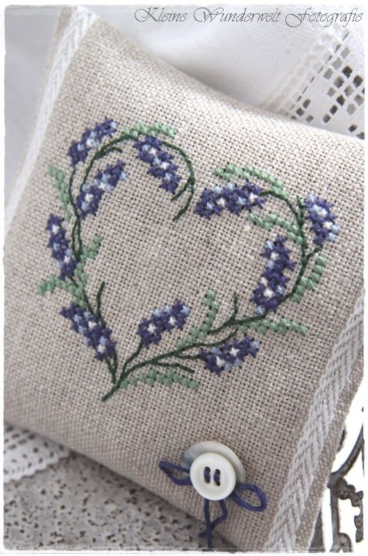 unusual design for lavender sachet