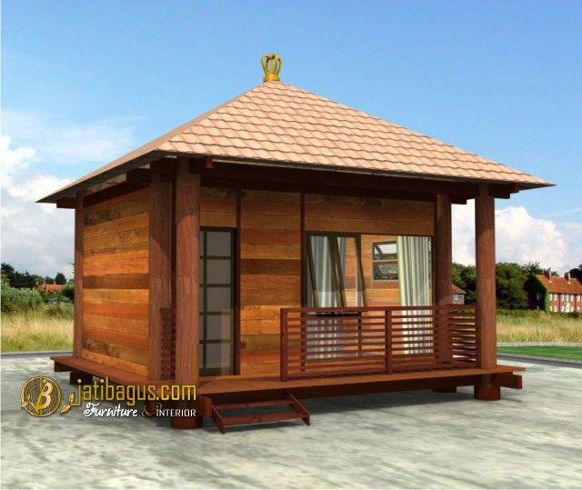 Rumah Kayu Minimalis Modern Sederhana