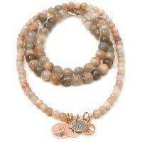 Natural SunStone Necklace with Rose Gold Coins.  From our Heaven Eleven Collection available from www.eastern-elemens.com.au