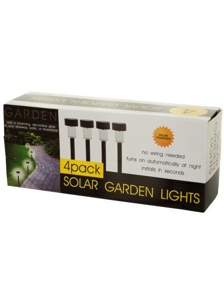 4-Piece Solar Powered Garden Lights Set (Available in a pack of 1)