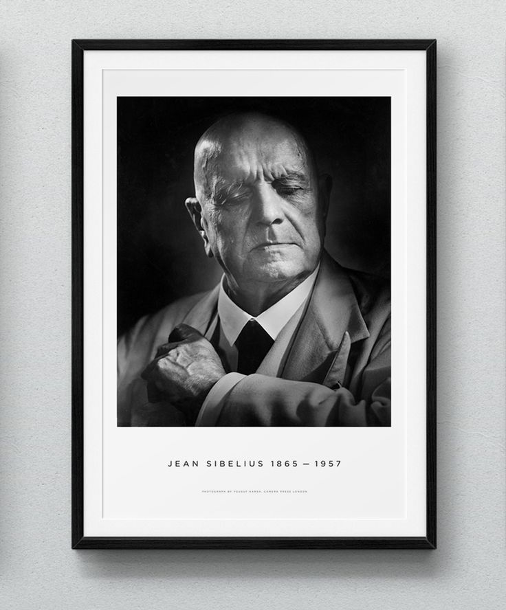 Sibelius by Karsh Poster Premium Popup Shop http://sibeliusbykarsh.com/