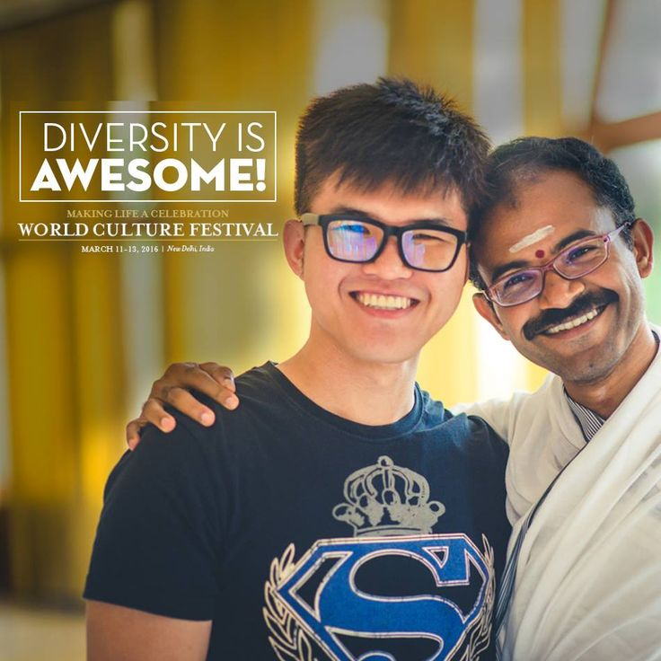 "Lets celebrate the awesomeness of ""Diversity' this World Culture Festival 2016! #WCF2016 #IVoulnteer4WCF"