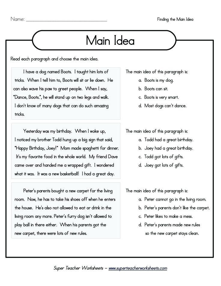 27 Main Idea And Supporting Details Worksheets Pdf With Images