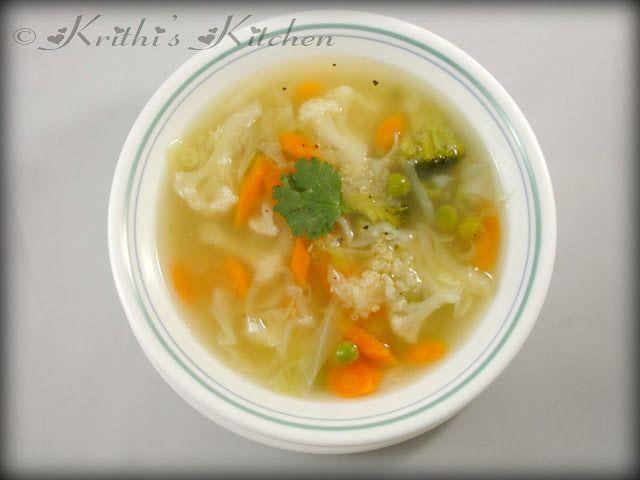Кухня Krithi в: Овощной бульон с киноа | Рецепты Супа