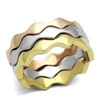 PR8108GOC Trojjitý prsteň z chirurgickej ocele