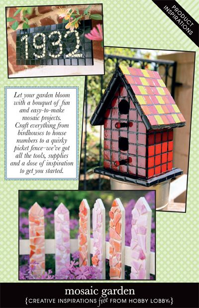 Let your garden bloom with a bouquet of fun and easy-to-make mosaic projects. Craft everything from birdhouses to house numbers to a quirky picket fence-- we've got all the tools, supplies and a dose of inspiration to get you started.