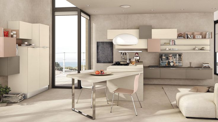 Imagine designing and furnishing a #kitchen with boundless #creative freedom. The rounded end doors, redesigned open units, new modularity for the wall unit height and depth, and the revolutionary doors with #coloured insert turn Immagina into an actual programme.