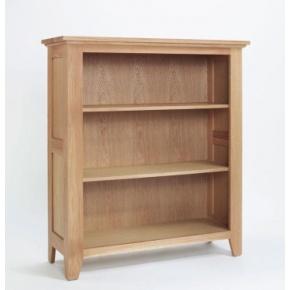 Cambridge Oak Low Bookcase CO5112  www.easyfurn.co.uk