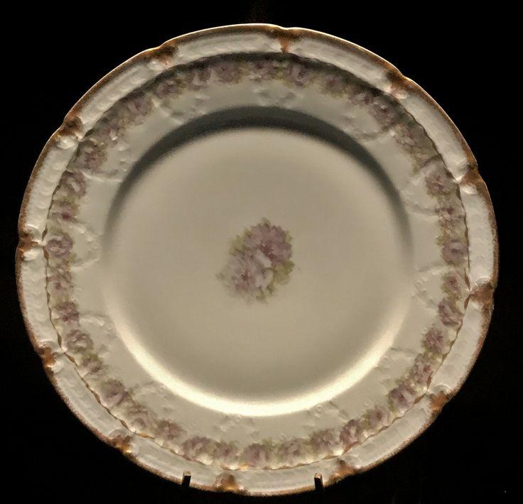 Haviland & Co Limoges Scalloped Pale Violet Plate Made for EB Taylor Co