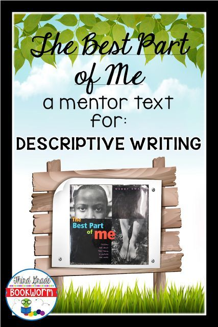 Teaching descriptive writing just got easier with this mentor text lesson from Third Grade Bookroom. The Best Part of Me is the mentor text used in this step by step lesson. FREEBIE INCLUDED.