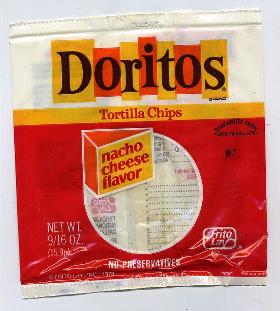 1980's Doritos bag