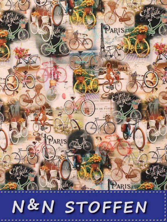 Tricot digitale print fietsen Paris