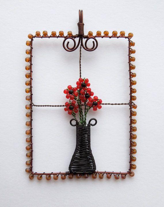 DIY kit wire pendant kit wire jewelry kit wire by LouiseGoodchild