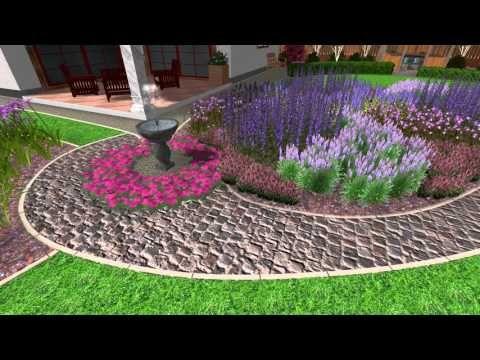 Zahrada s altánem a fontánou