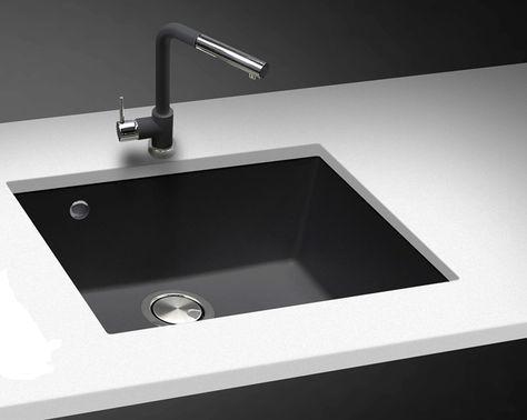 Telma Composite sink ON 4110 Black undermount . Anti bacterial