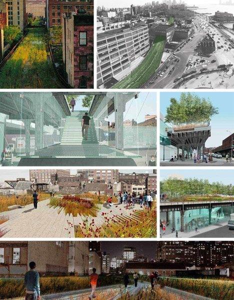 High Line - NY  Parque linear suspenso em linha de trem desativada, ótima idéia de apropriação do espaço público!