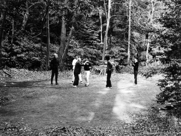 Meiji Jing the Taikiken outdoor dojo.