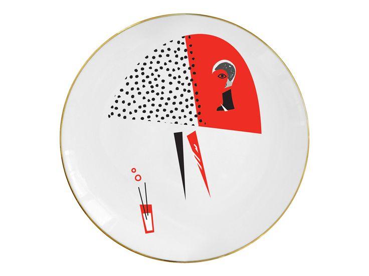 """""""Red skirt"""" plate / Talerz """"Red skirt"""""""