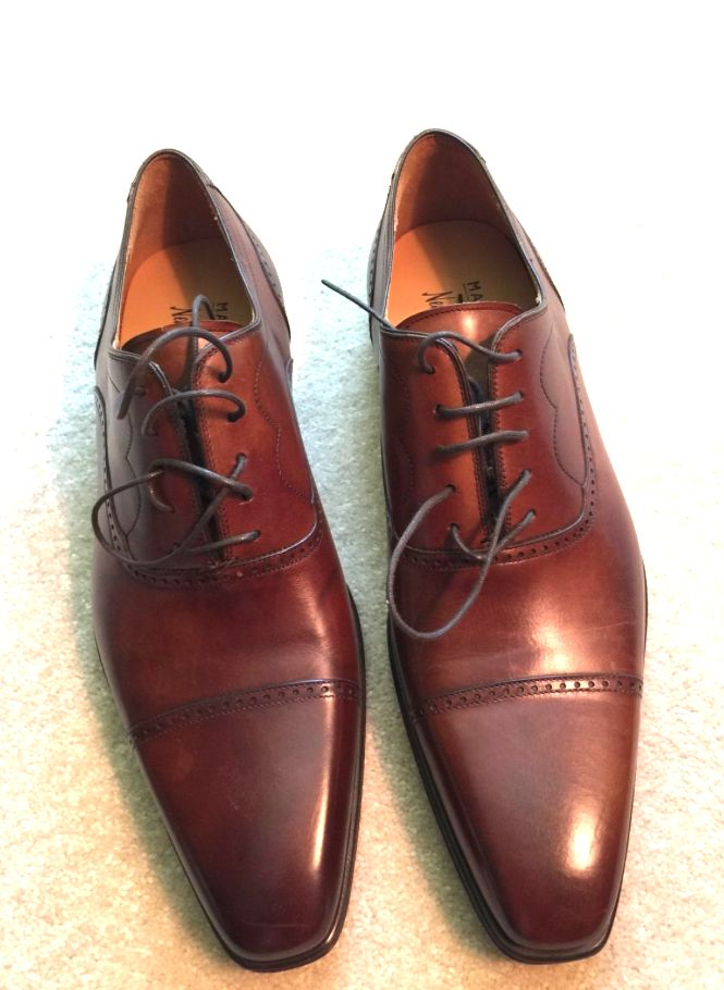Suit And Tie Brown Shoes