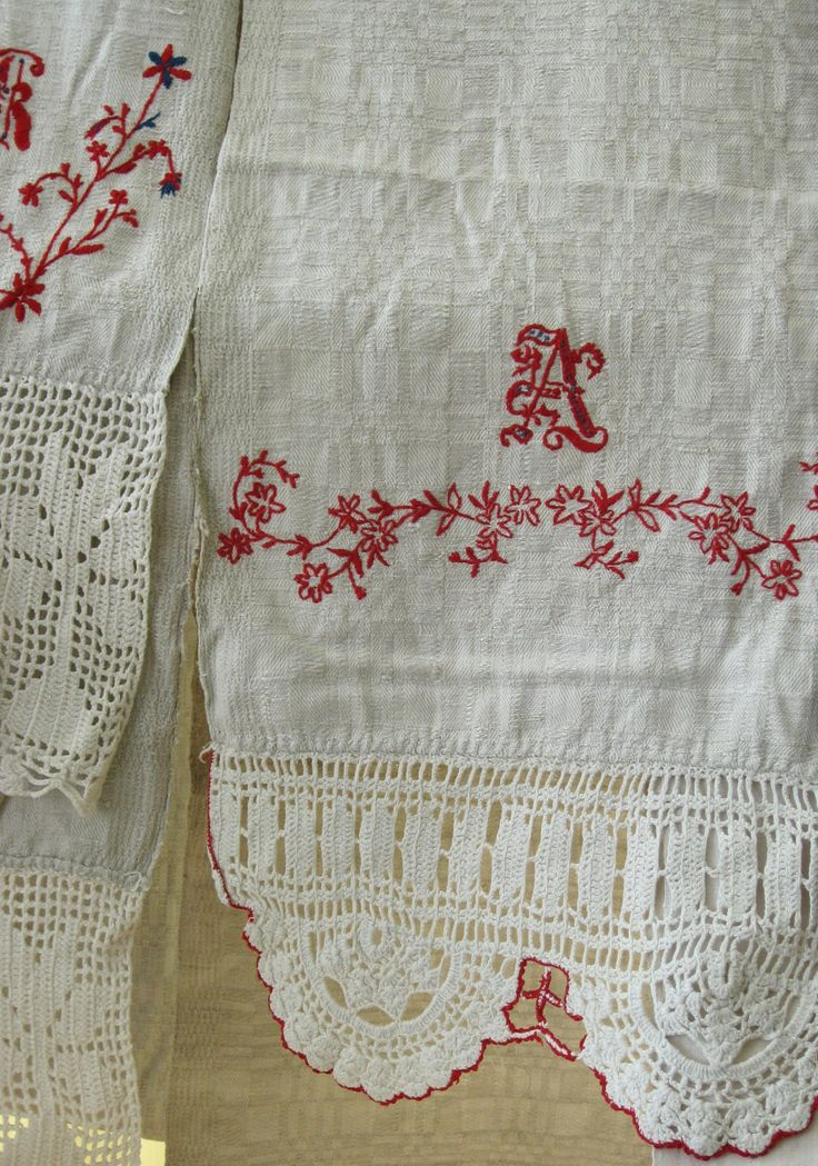 Traditional Latvian textiles #HandicraftLeader . Crochet & embroidery from Skrunda Museum.