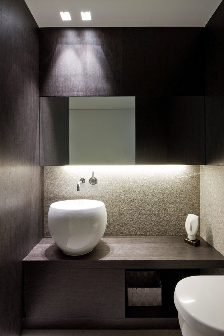 :: BATHROOMS :: DETAILS :: adore the work of iXtra Interieur Architectuur | Living spaces. Photo Credit: www.ixtra.be Lovely detailing of wood, vanity & mirror detailing. #details #interiors
