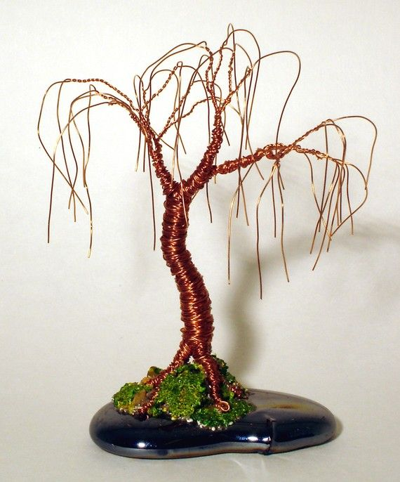 Oak Bonsai - wire tree sculpture - Original