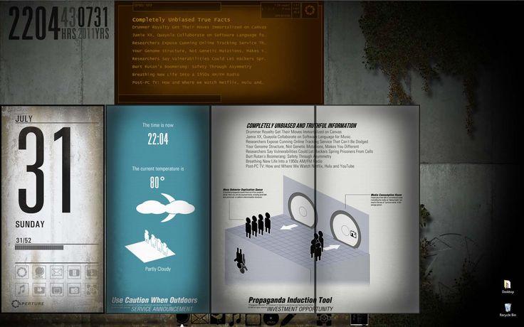 The Portal 2 Desktop Theme for Rainmeter by wistfulwriter.deviantart.com on @deviantART train station/kingscross