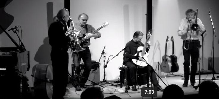 "Doppelmoppel - Conny Bauer (tb), Johannes Bauer (tb), Uwe Kropinski (g), Helmut ""Joe"" Sachse (g)"