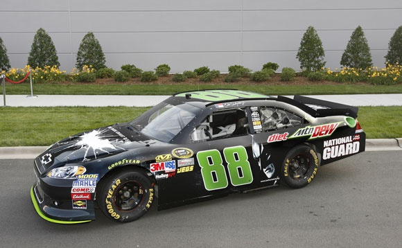 Dale Earnhardt Jr Car | Dale Earnhardt Jr. Unveils Winning Dark Knight Rises Car ...